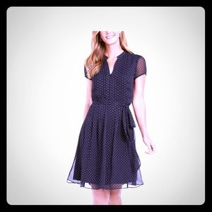 MSK blue polka dot dress